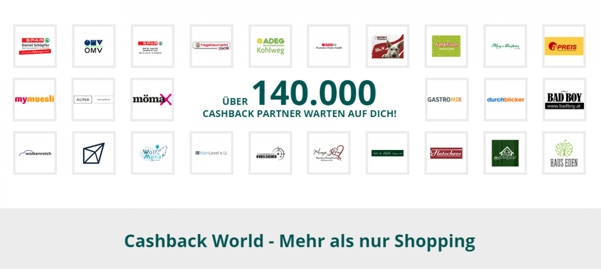 cashback world copyright mWA myWorld Austria GmbH